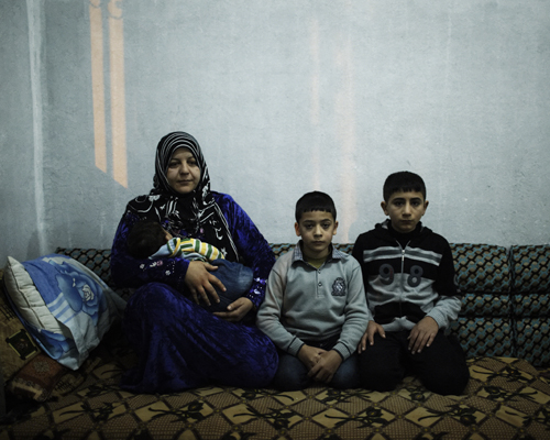 A family of refugees, from Racca to Sanliurfa.