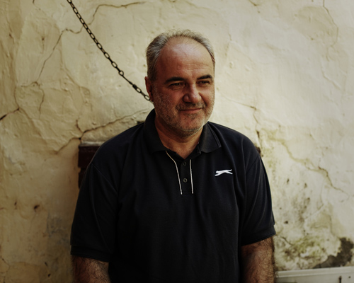 """Bratislav, born in 1958. Maja's dad.  """"I watched the 1999 bombing of the defense ministry live, not on TV, live with my eyes. When they also hit the national TV building, we, at Studio B also had to move, we were scared of being targeted too. Even if it was an opposition TV, unlike RTS which was Milošević puppet TV... they were picturing NATO as Serbia worst enemy ever, unlike us, dealing with facts. One of my friends was working technical team at RTS died, he told me the night before he wasn't going to live to see another day... He was hit directly, nothing of him was left to be found. We had «war schedule,» working 12h shift to be able to cover everything. I was constantly thinking about Maja and my wife. After few days, we weren't running for shelter anymore. What was striking was the silence after the bombing: no planes, no sirens, no explosions... Life keeps going on."""""""