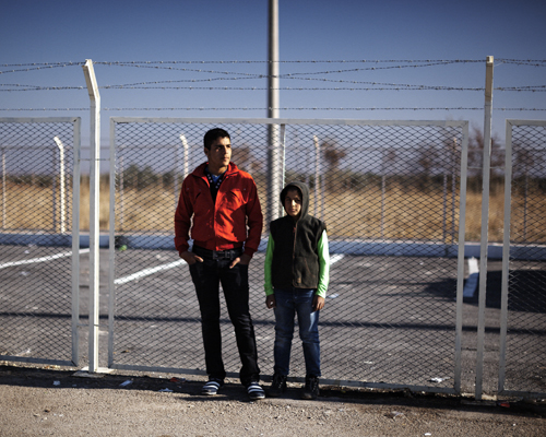 Ahmed and his younger brother are Palestinian. Before the war, they were refugees in Latakia in Syria. Now, they are refugee in Killis, in Turkey, in a refugee camp attached to the border post.