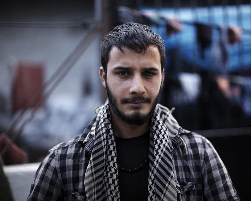 A young Syrian man in a village near the border.