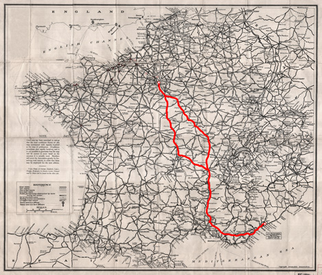 """""""Route Nationale 7"""", 1959 by french singer Charles Trenet."""