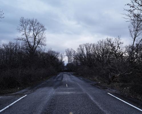 Abandoned portion near Pont de l'Isère.