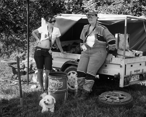 """Christèle/""""Wendy"""" du SCC Diemoz et une de ses filles, parc pilote. Ratte, Saône-et-Loire, Août 2016."""